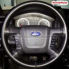 2010 Ford F150 Wheelskins Steering Wheel Cover One Color Black