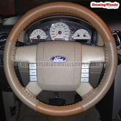 2004 Ford F150 Wheelskins Steering Wheel Cover Two Color Tan