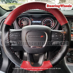 2018 Dodge Challenger Wheelskins Steering Wheel Cover Two Color *Custom-Mod