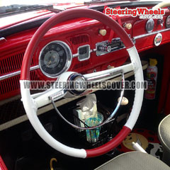 Custom-Size Wheelskins Steering Wheel Cover 2 Color